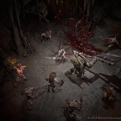 Jairo sanchez combat caves barbarian goatmen