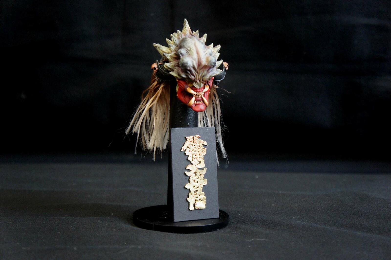 """鬼侍 (サムライ・プレデター) 完成品 黒澤明の映画「乱」のカラーコンセプトベース Samurai Predator  color concept base from Akira Kurosawa's film """"Ran"""""""