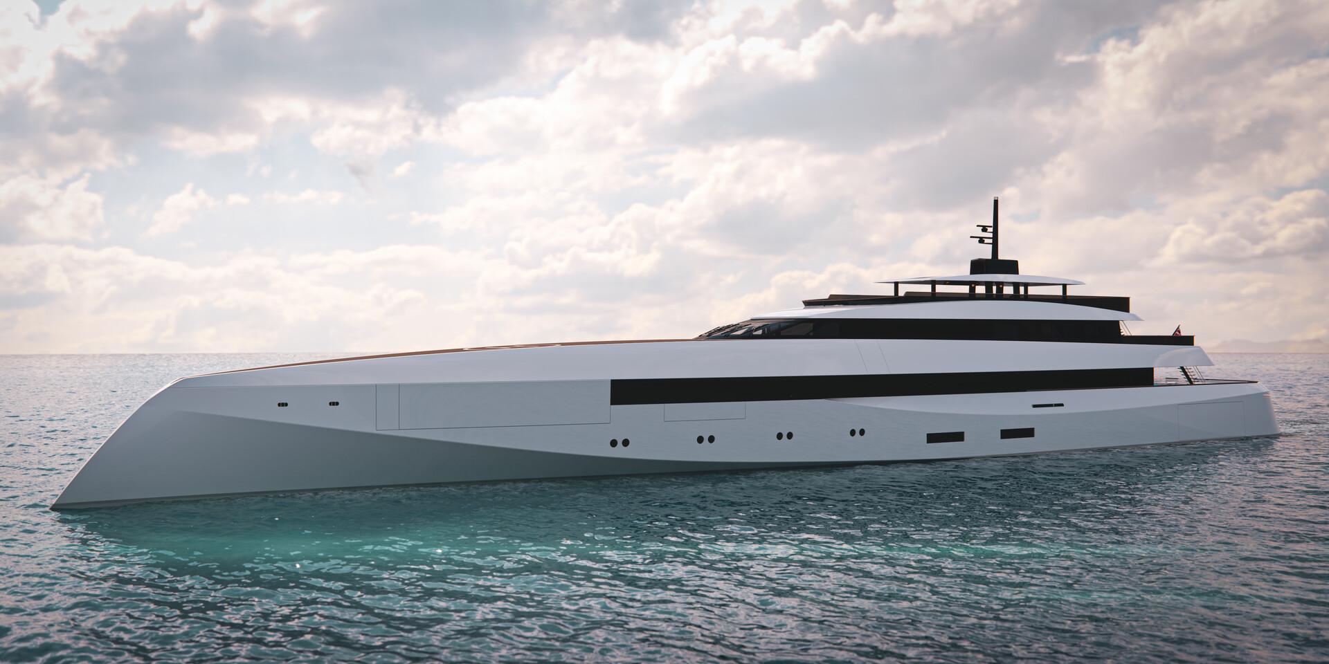 Ghost Yachts G250. (80 meters)