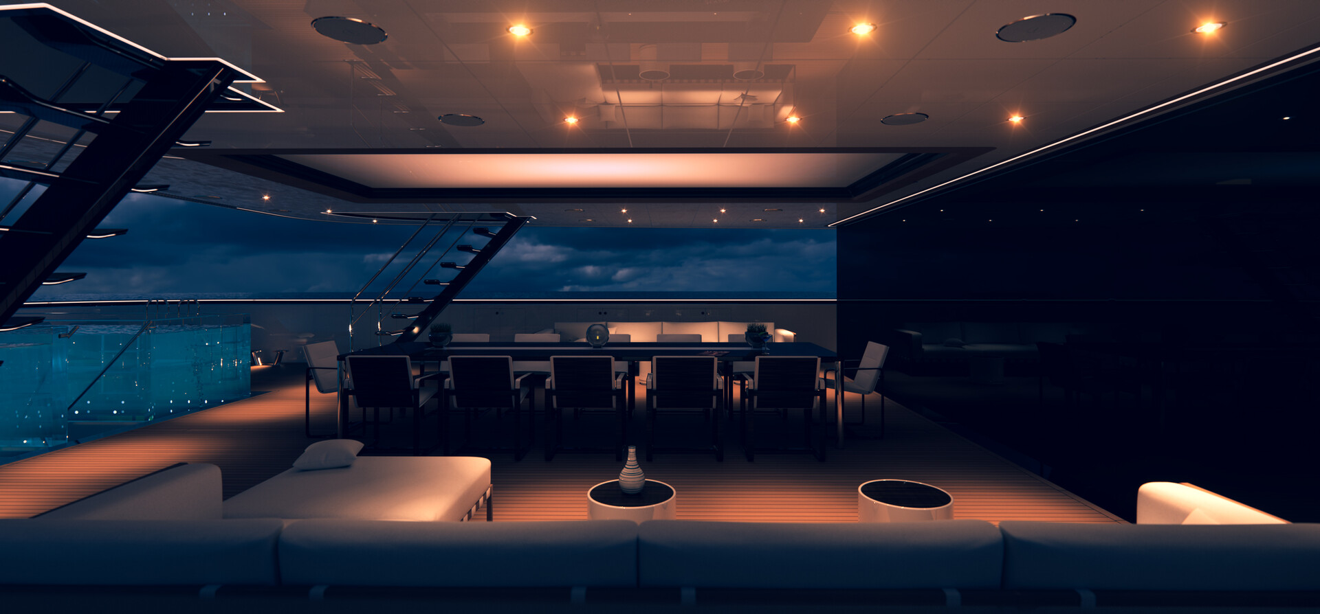 G250: Main deck, evening.