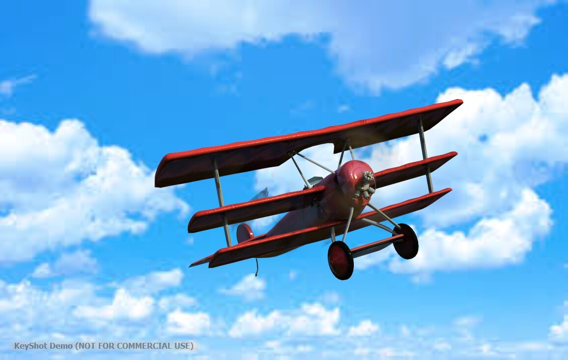 Fokker Plane made for games using maya and Substance Painter