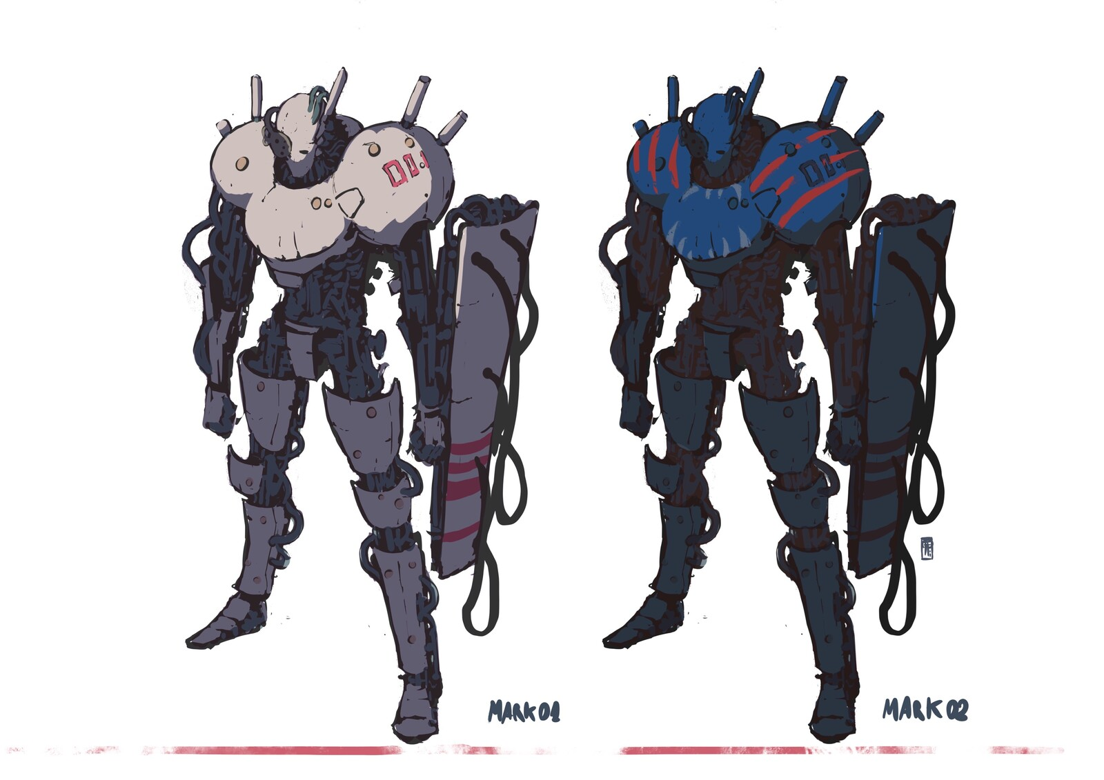 Mecha_doodles//Mark01_and_Mark02