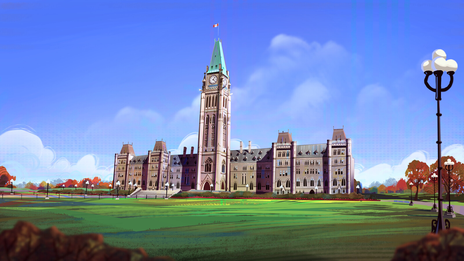 """Matte painting """"Into the election-Verse"""""""