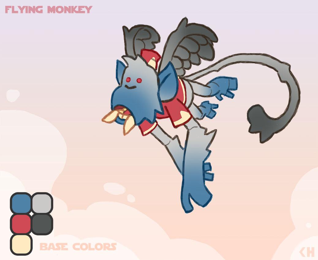 Chema samaniego flying monkeys base colors