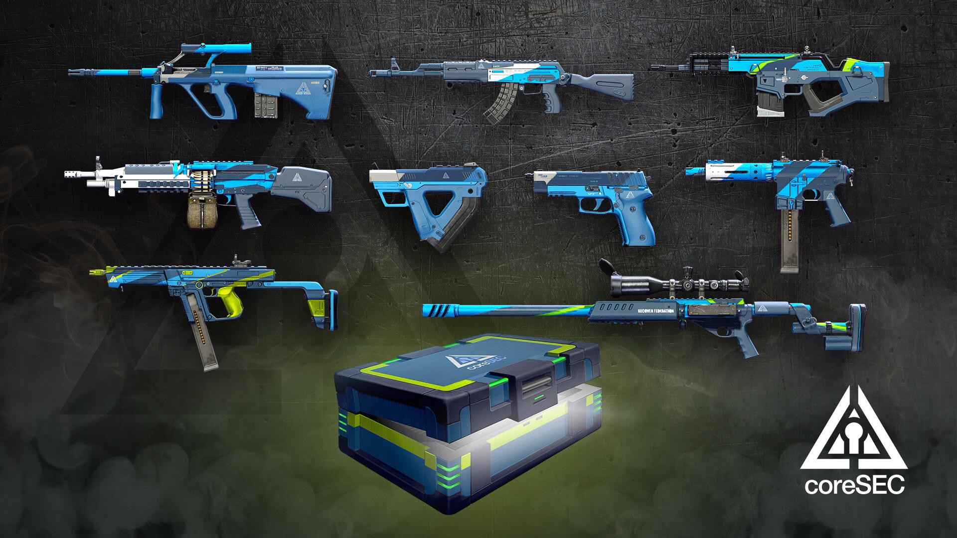 Jordan moss weapon skins coresec