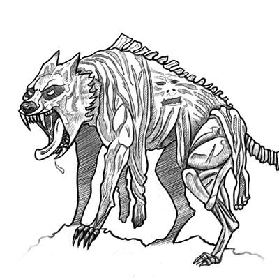 Christopher kallini werewolf lineart