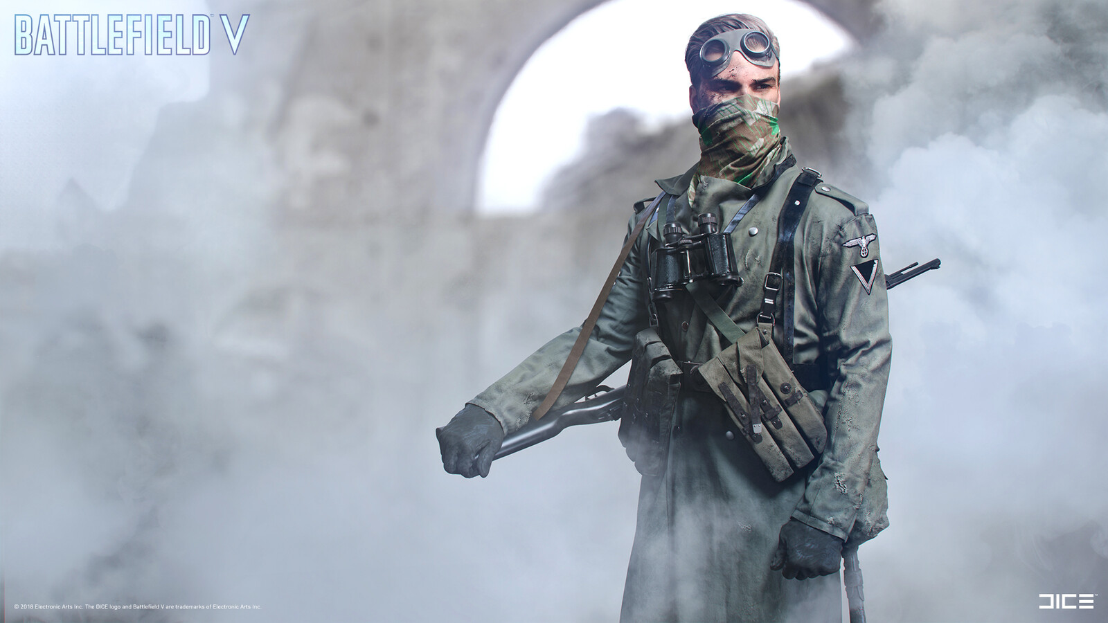 """Battlefield V"" - Axis Sniper ""field"" - Customization concept art"