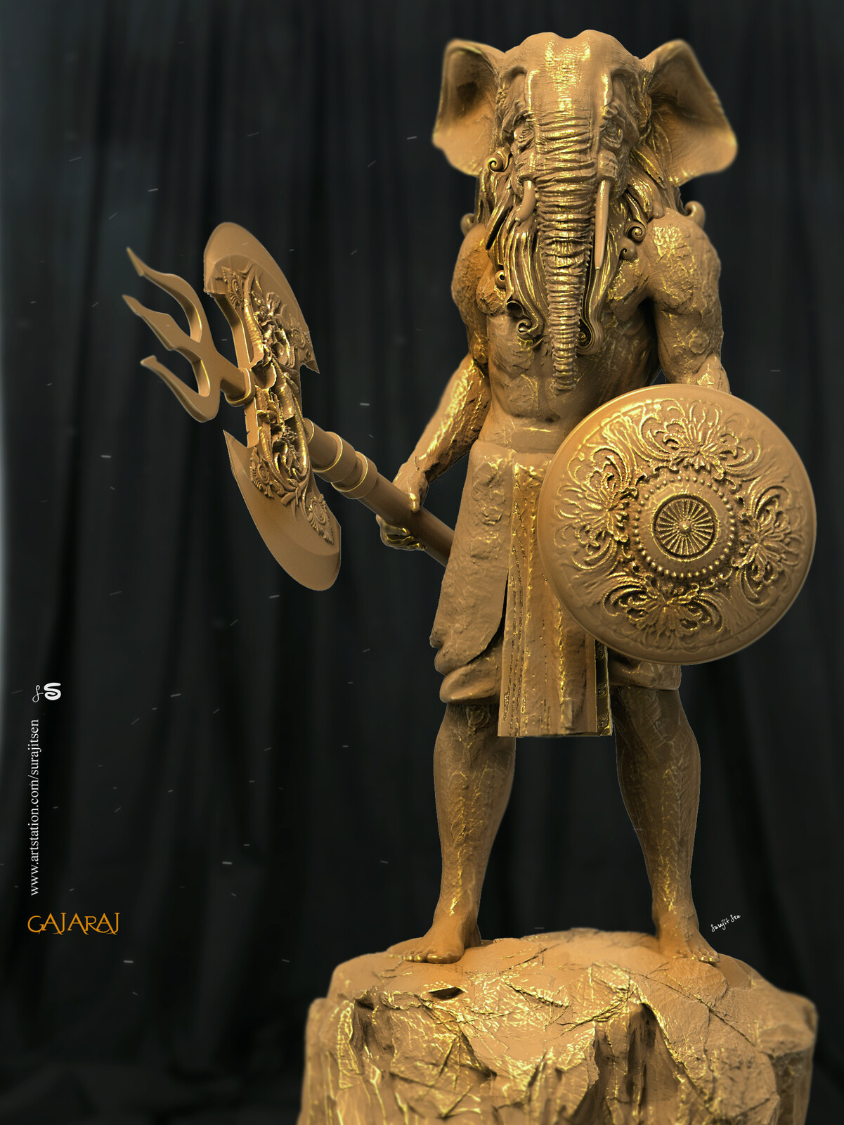 #gajaraj One of my thoughts. Tried to make a form.. Digital Sculpture.