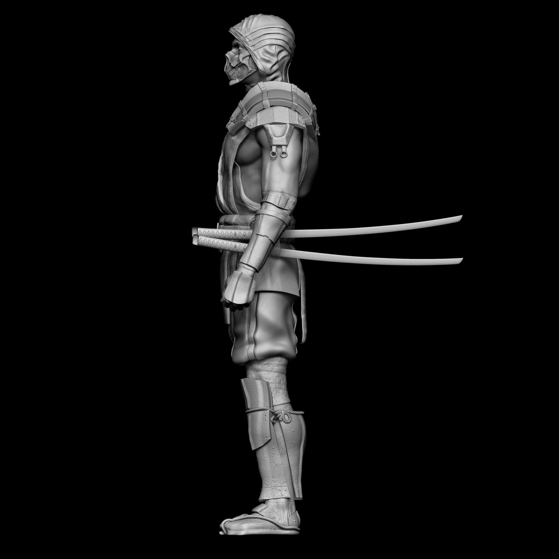 Artstation Scorpion Mortal Kombat Mk 11 Andrew Smuklauski