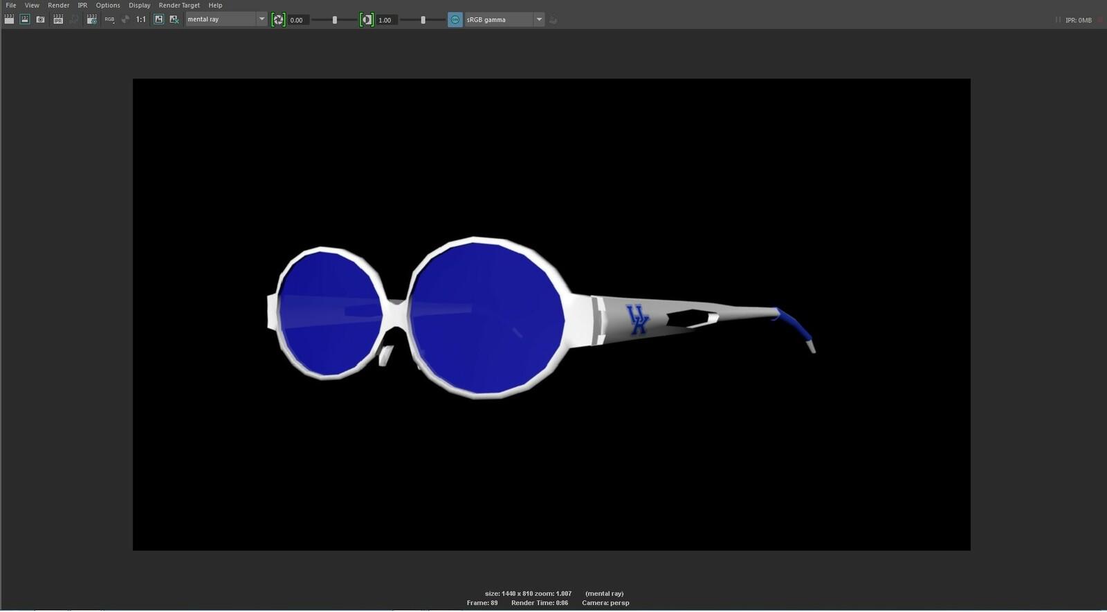The final 3D model of the UK Sunglasses