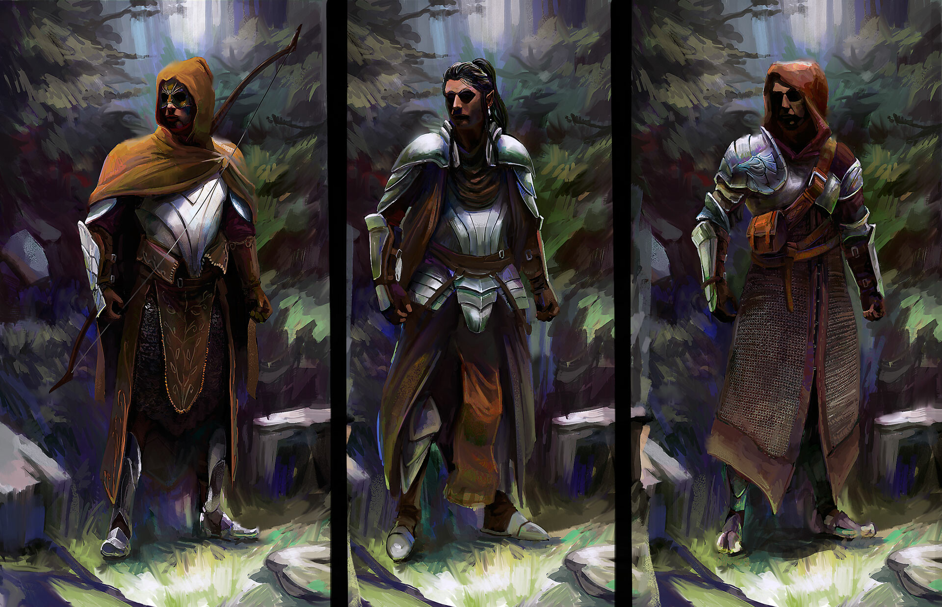 Stone gate guard variations