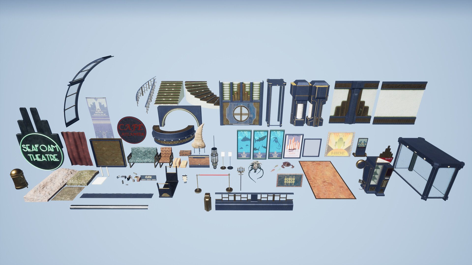 Grouped Modular Assets that were used for the scene.