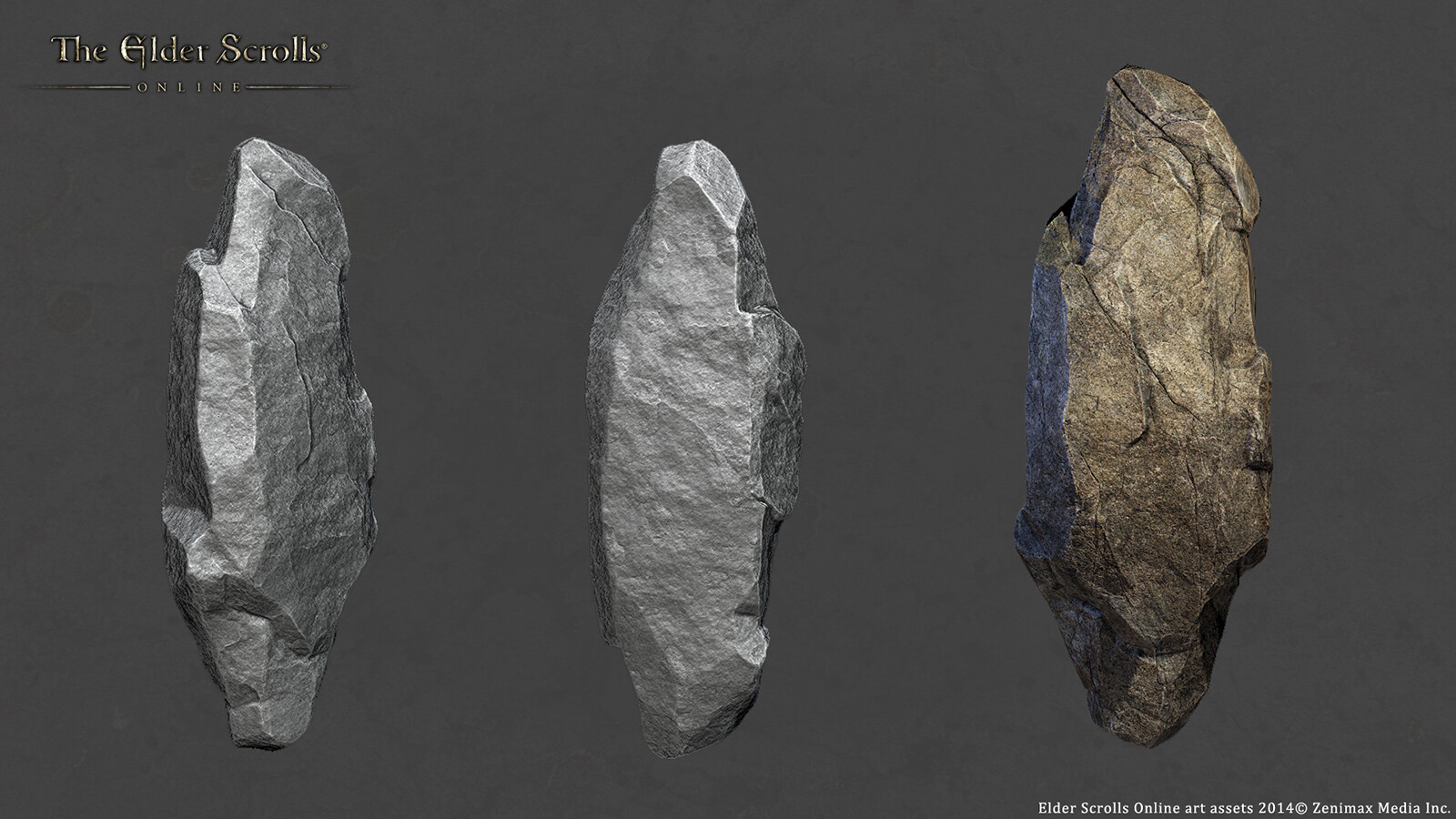 Hero Rock 01- created using 3dsmax/Zbrush and Photoshop for ESO.