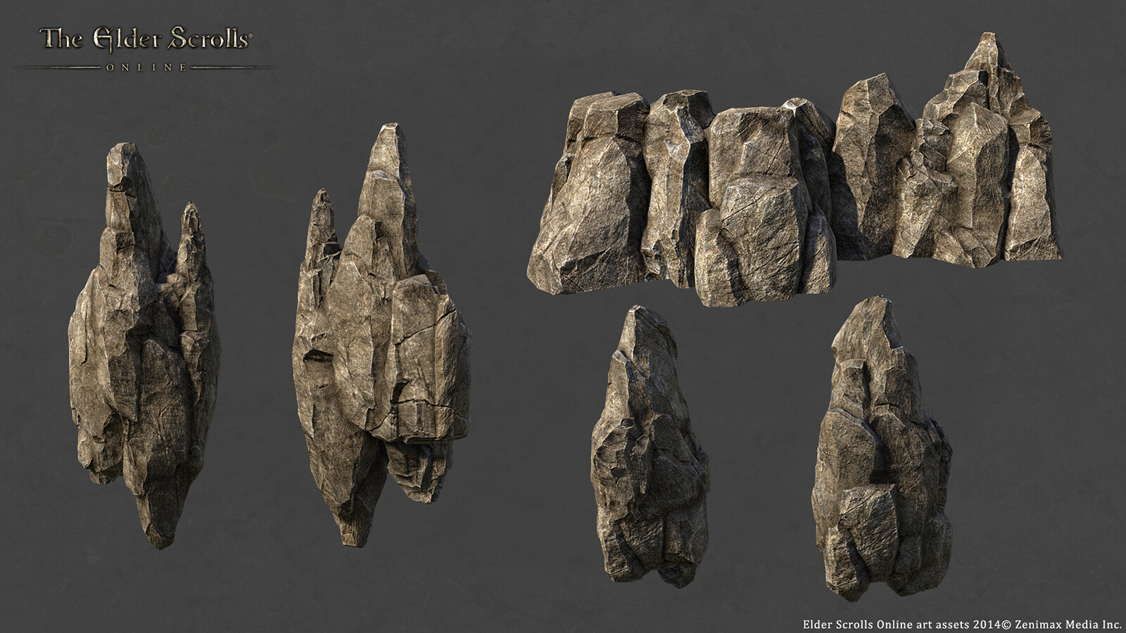 Vertical Cliff Set- created using 3dsmax/Zbrush and Photoshop for ESO.