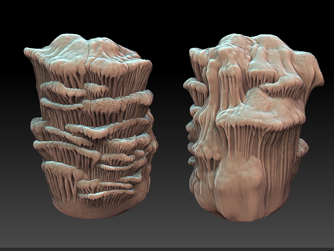 Zbrush sculpt for Hero Stalactite asset created for ESO.