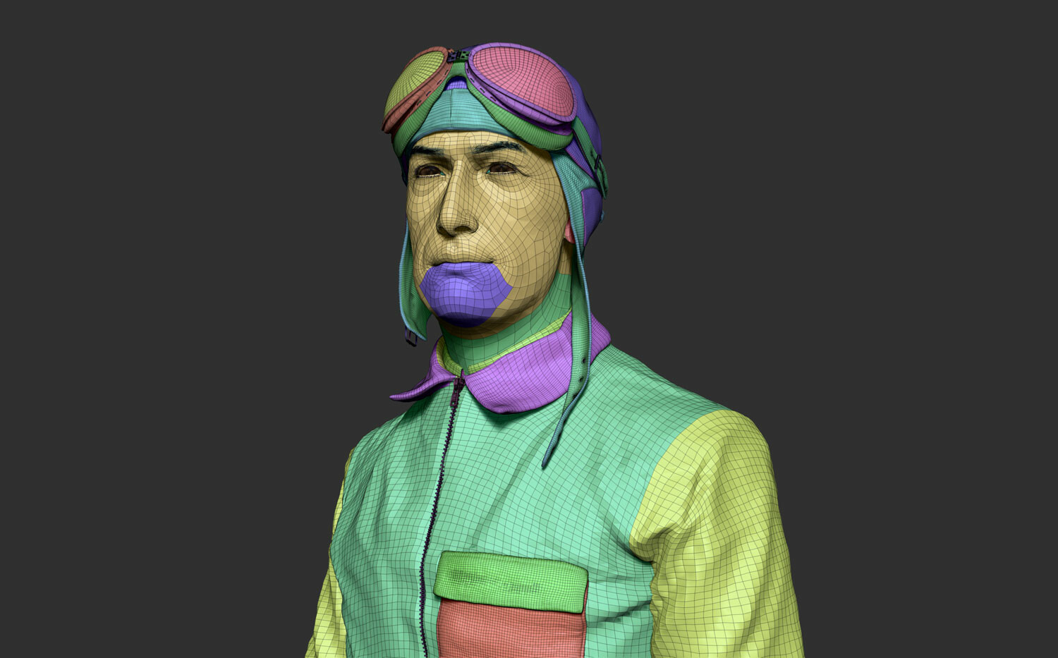 ZBrush low-res and topology