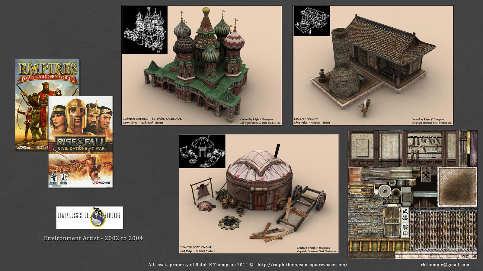 Various assets from titles I worked on early in my career while at Stainless Steel Studios.