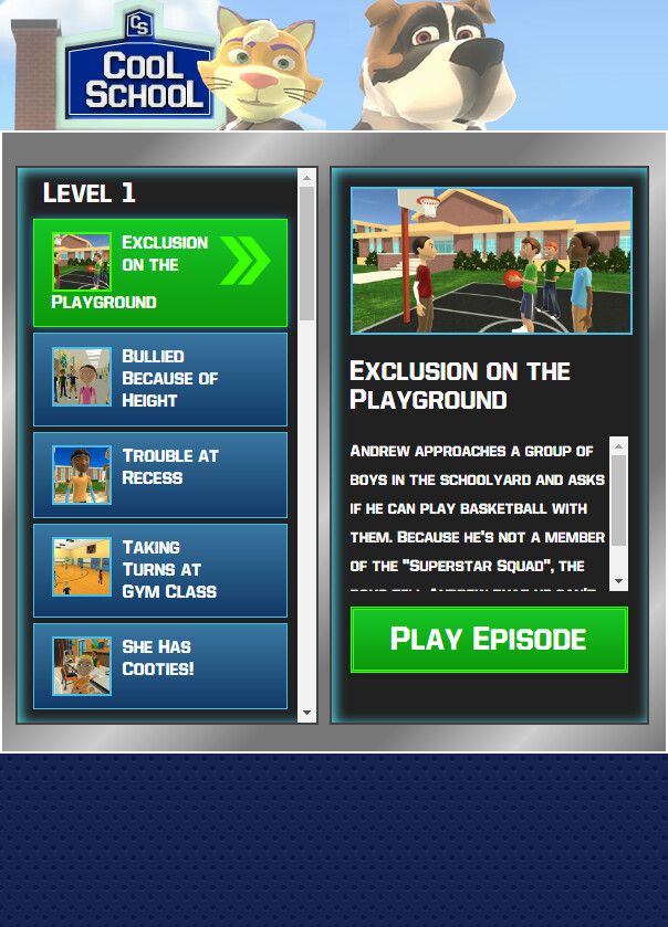 Same UI, showing the responsive design.