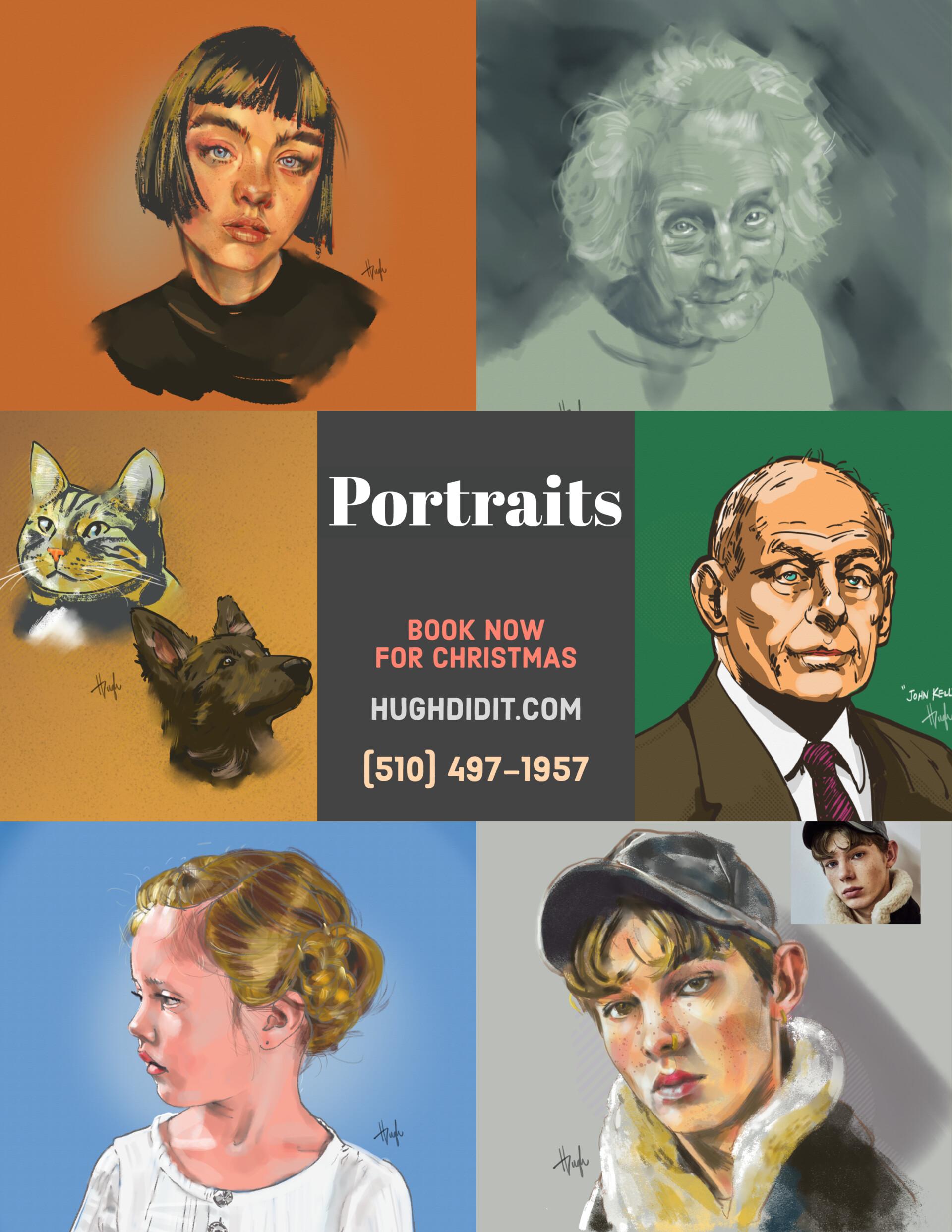 Hugh chapman portrait poster