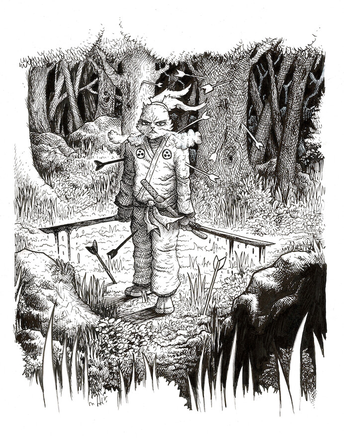 Usagi Yojimbo commission inks