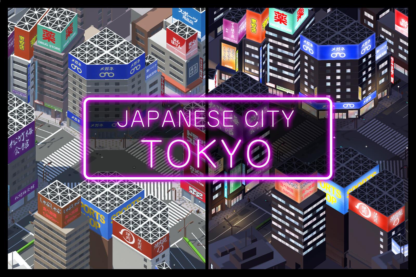 Japanese City Tokyo Asset