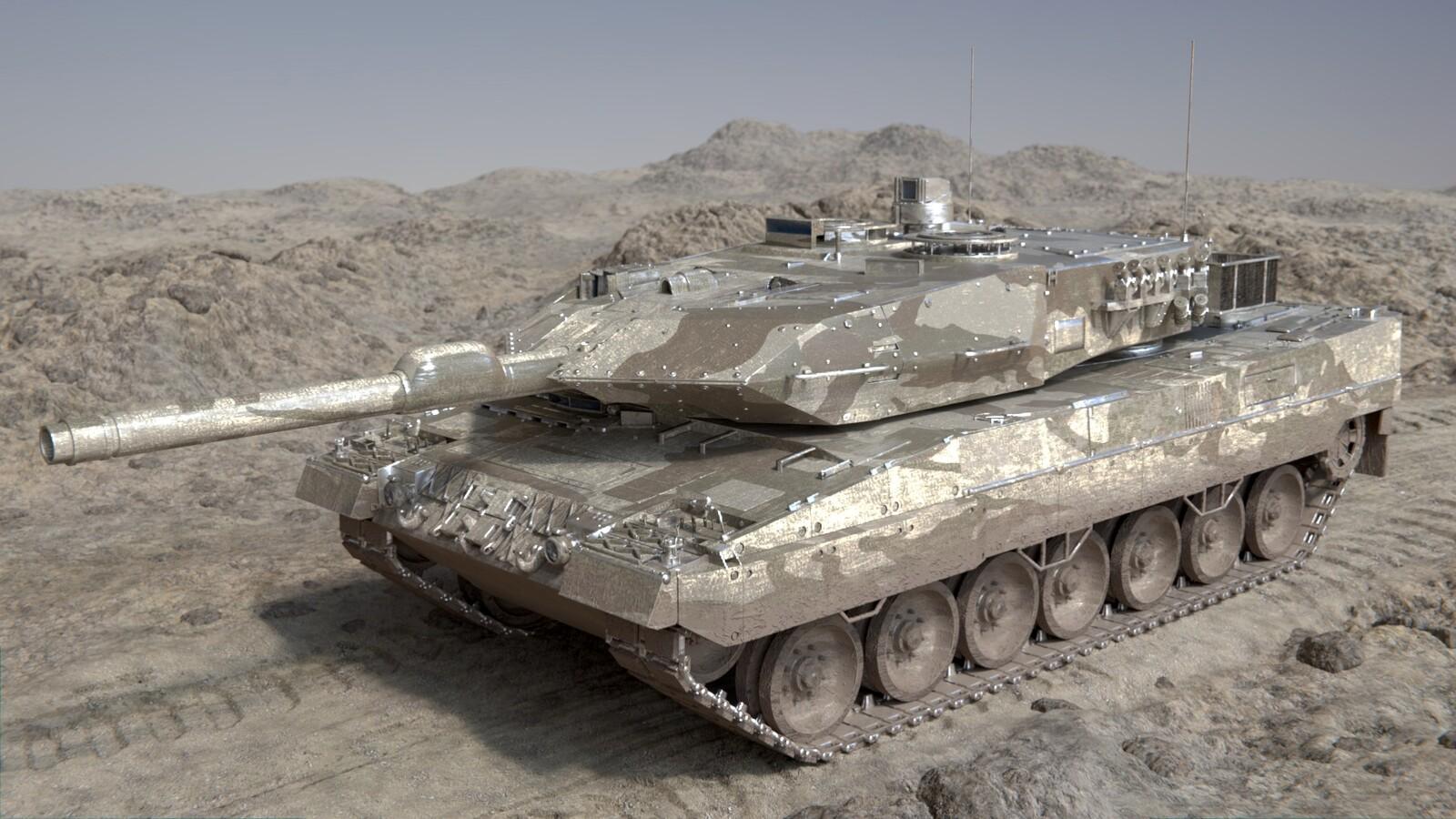 Desert Leopard 2a Tank