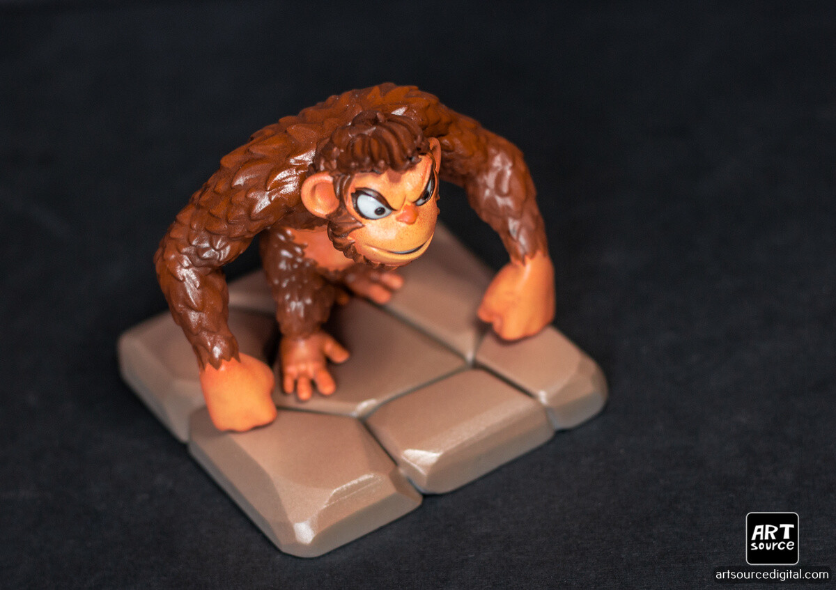 Ape figure. Hand painted!