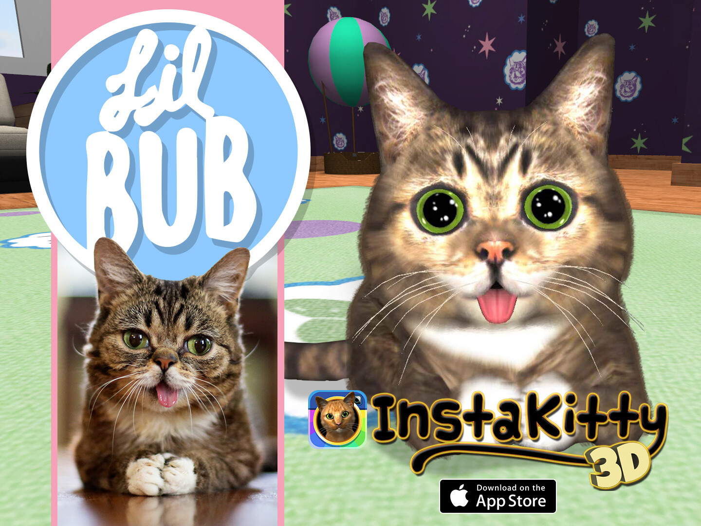 Marketing art for InstaKitty3D's LilBub update.