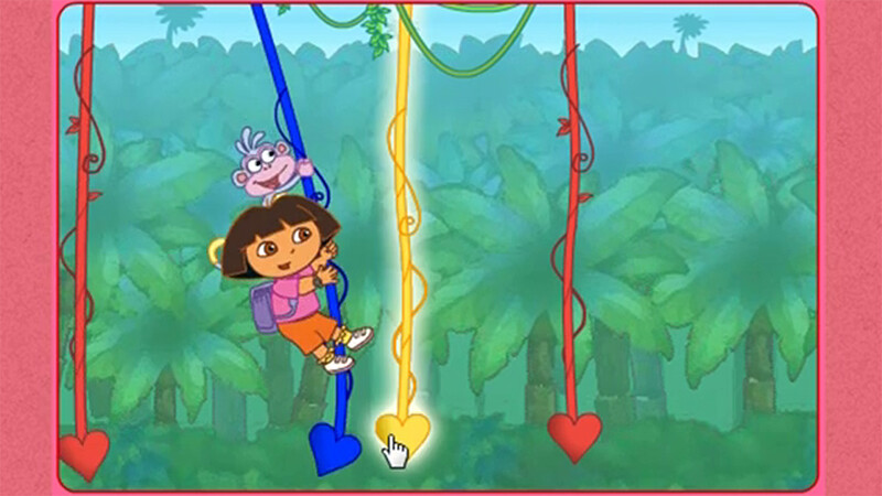 Animations and effects for the vine portion of Dora and the Lost Valentine, flash browser game.