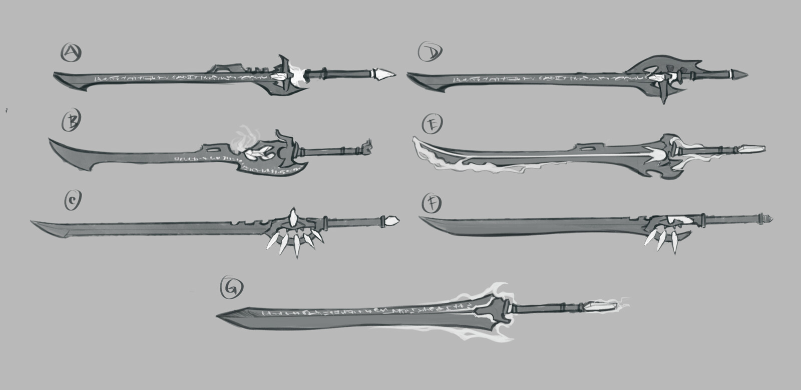 Filipe pinto zor sword sketches