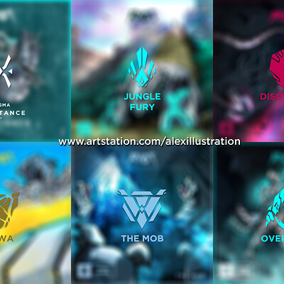 Alex illustration preview all
