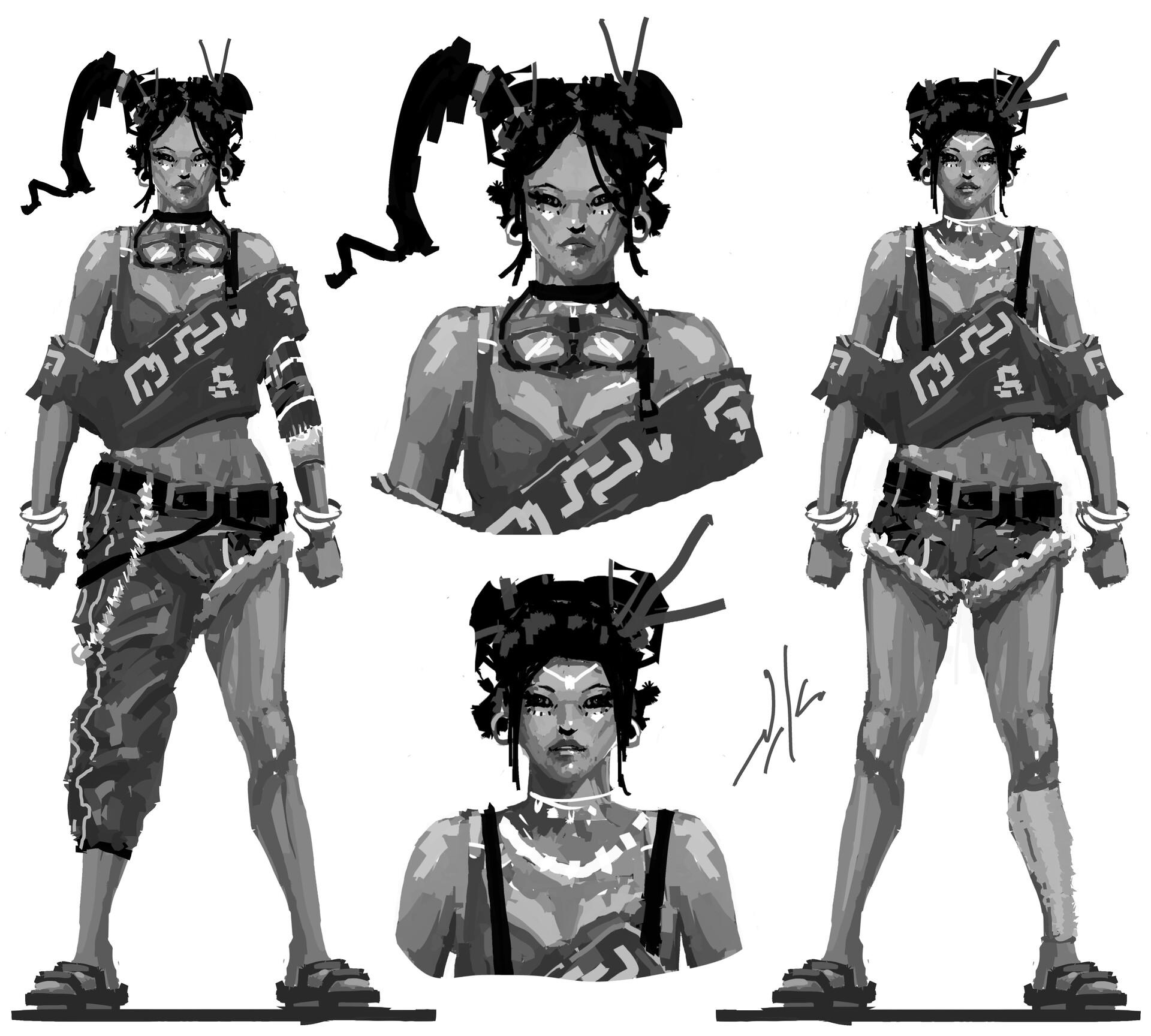 Naka isurita character design practice 01