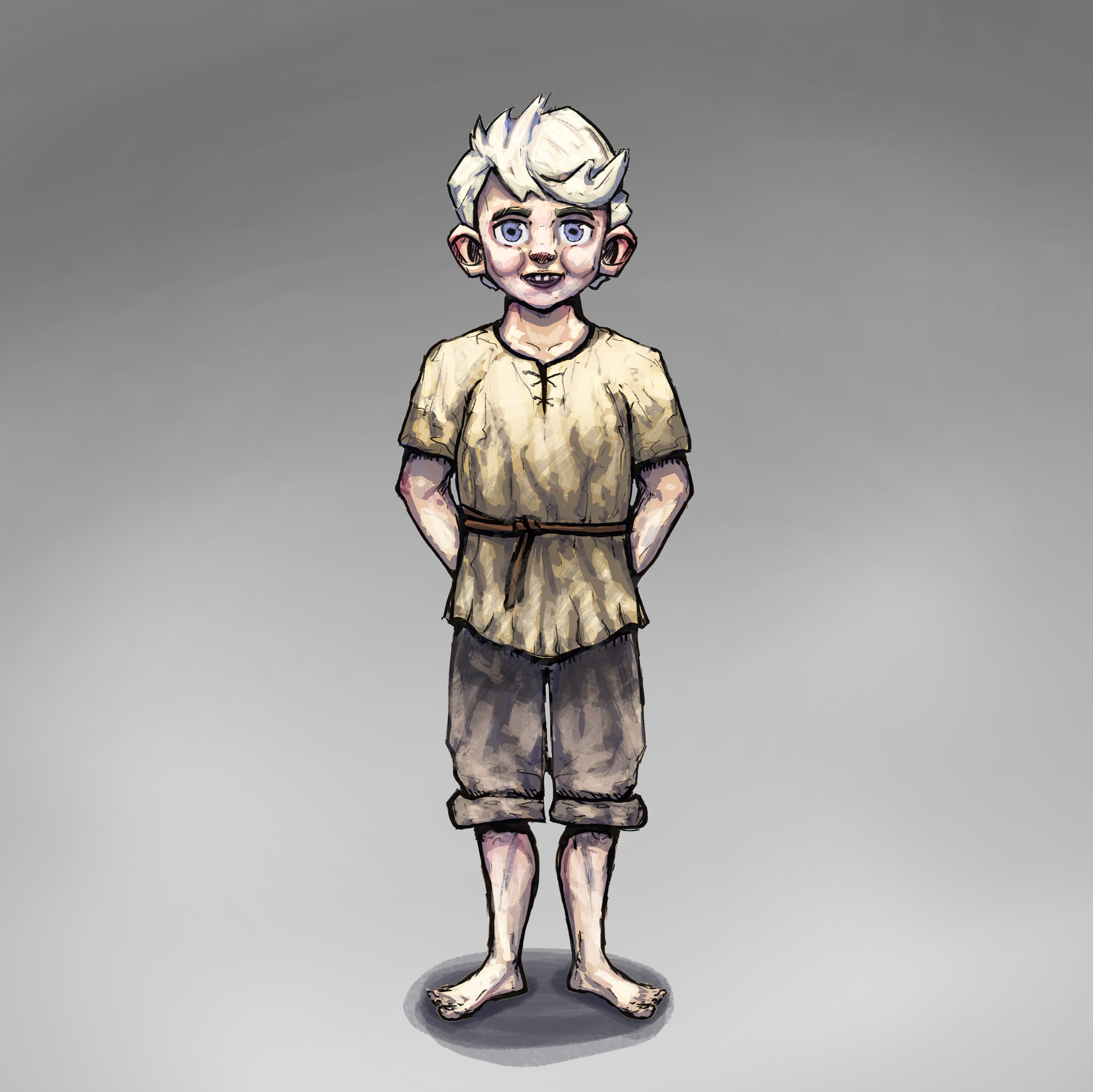 Character design for Lukas (Player Character).
