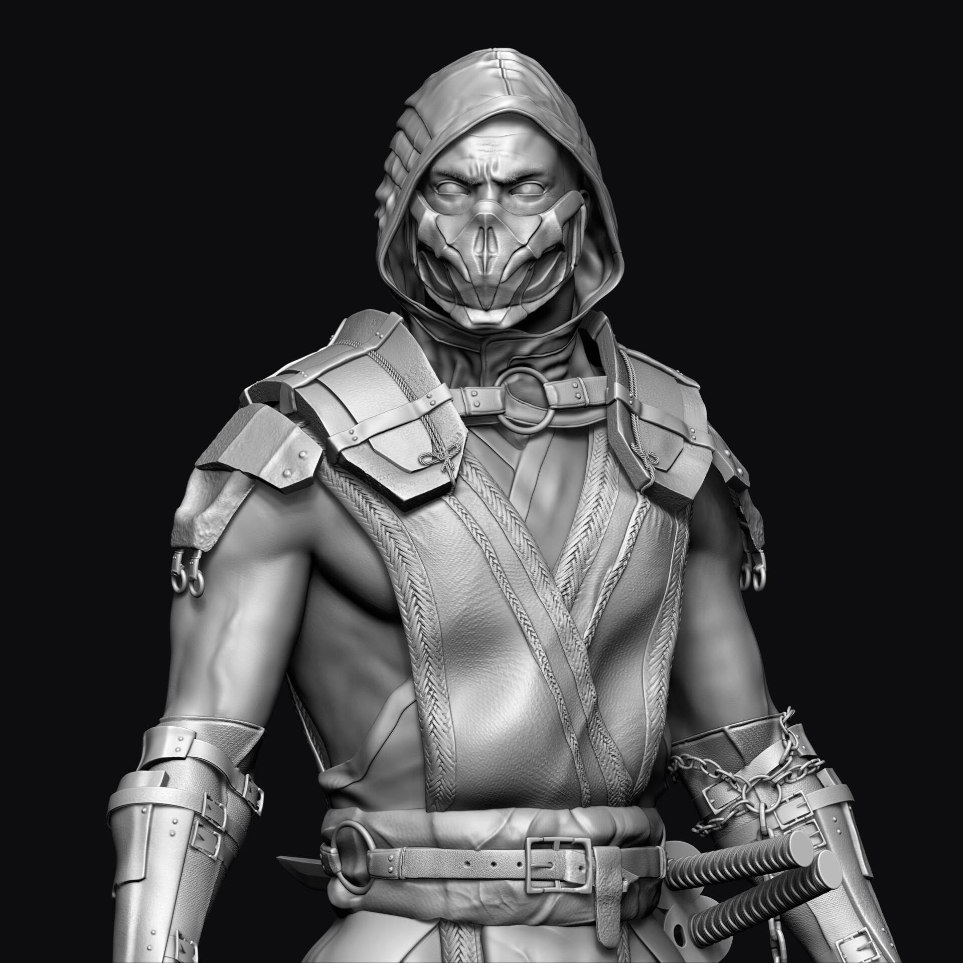 Artstation Scorpion 3d Model Mortal Kombat Mk 11 Andrew