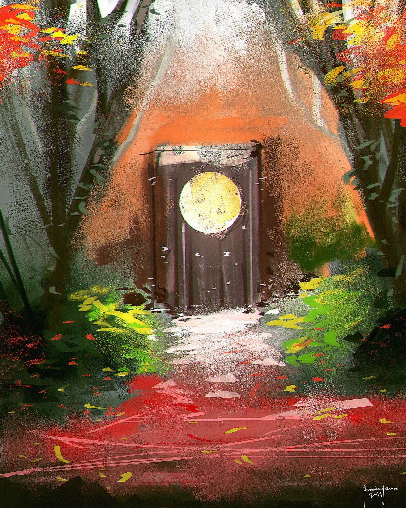 Speedpainting Mystic Forest Door