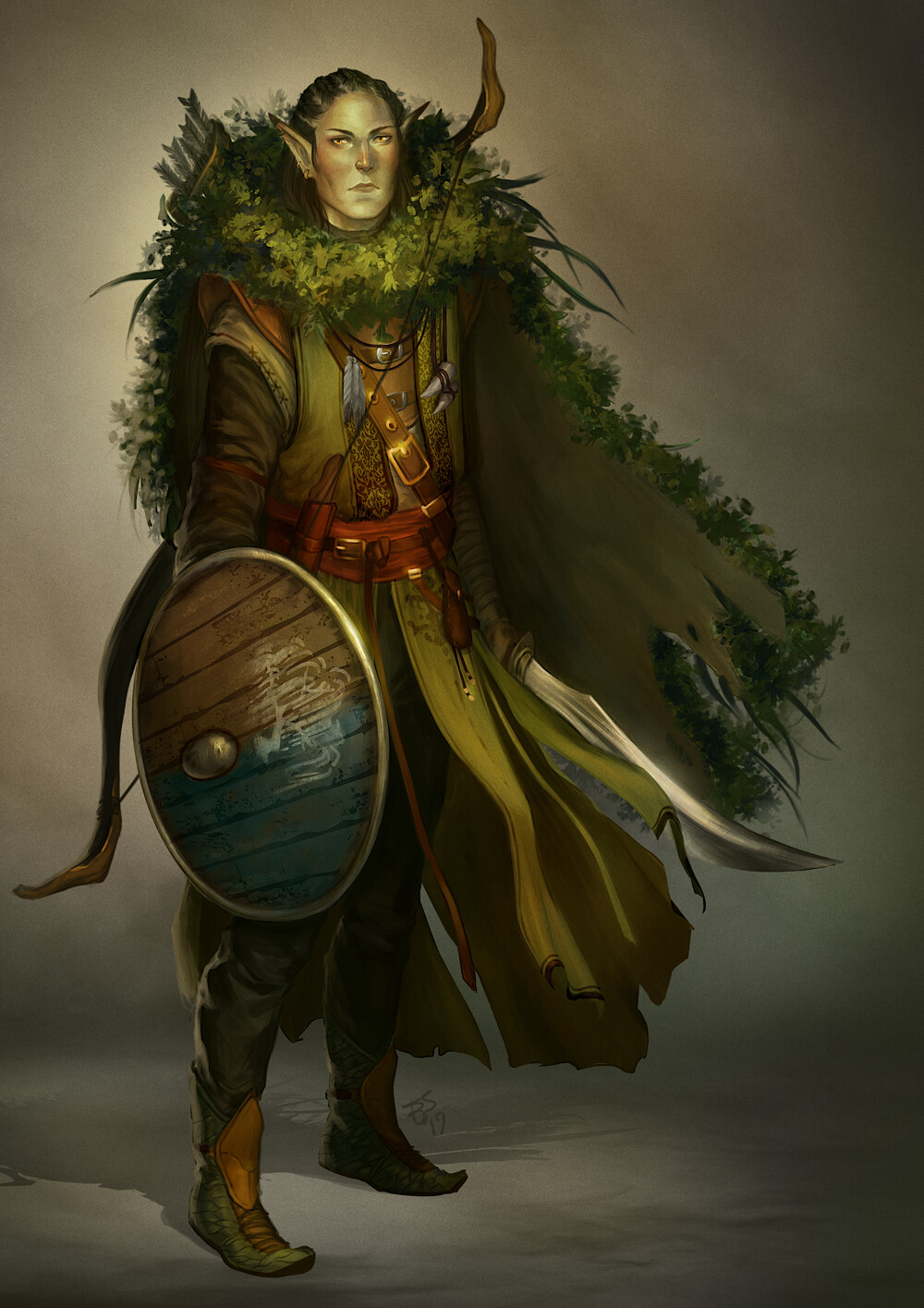 Elf Druid - dnd commission