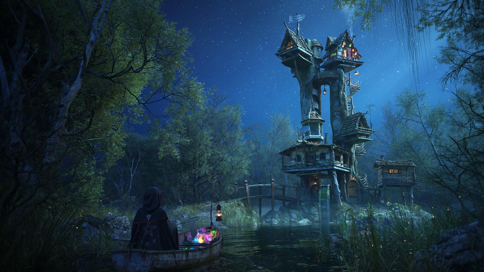 Whimsical Return - Pixar's Woodville Art Challenge