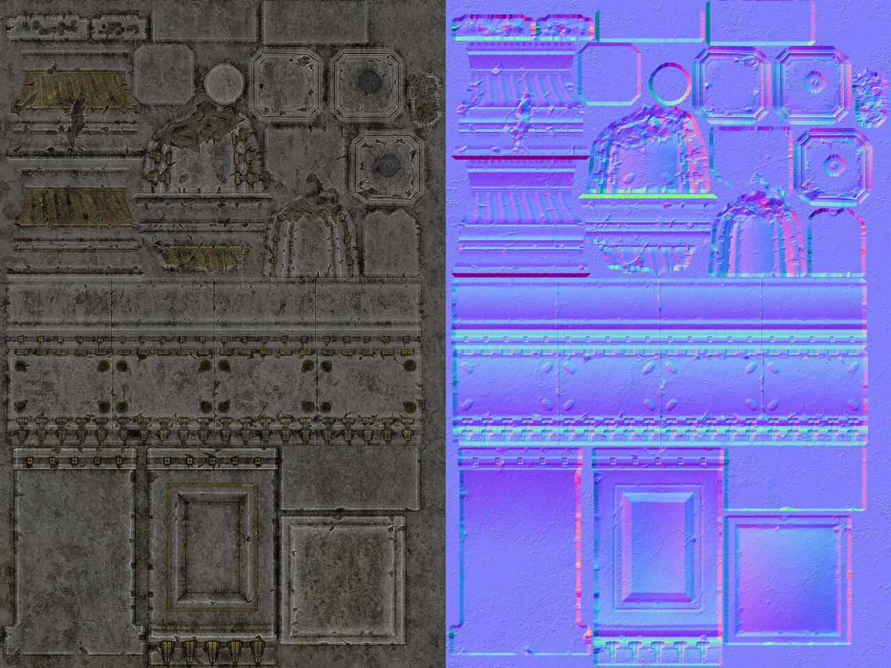 Textures - 1x 1024x1024 1x 1024x512 (diffuse, normal)