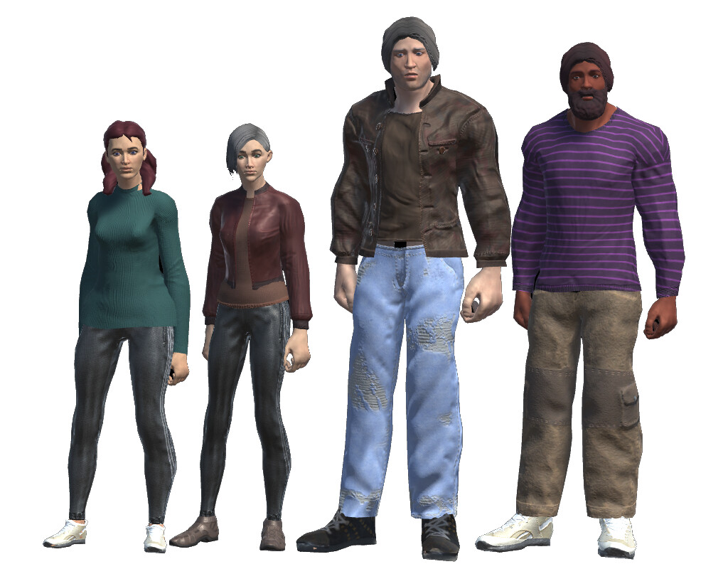Some characters that were generated (out of fifty)