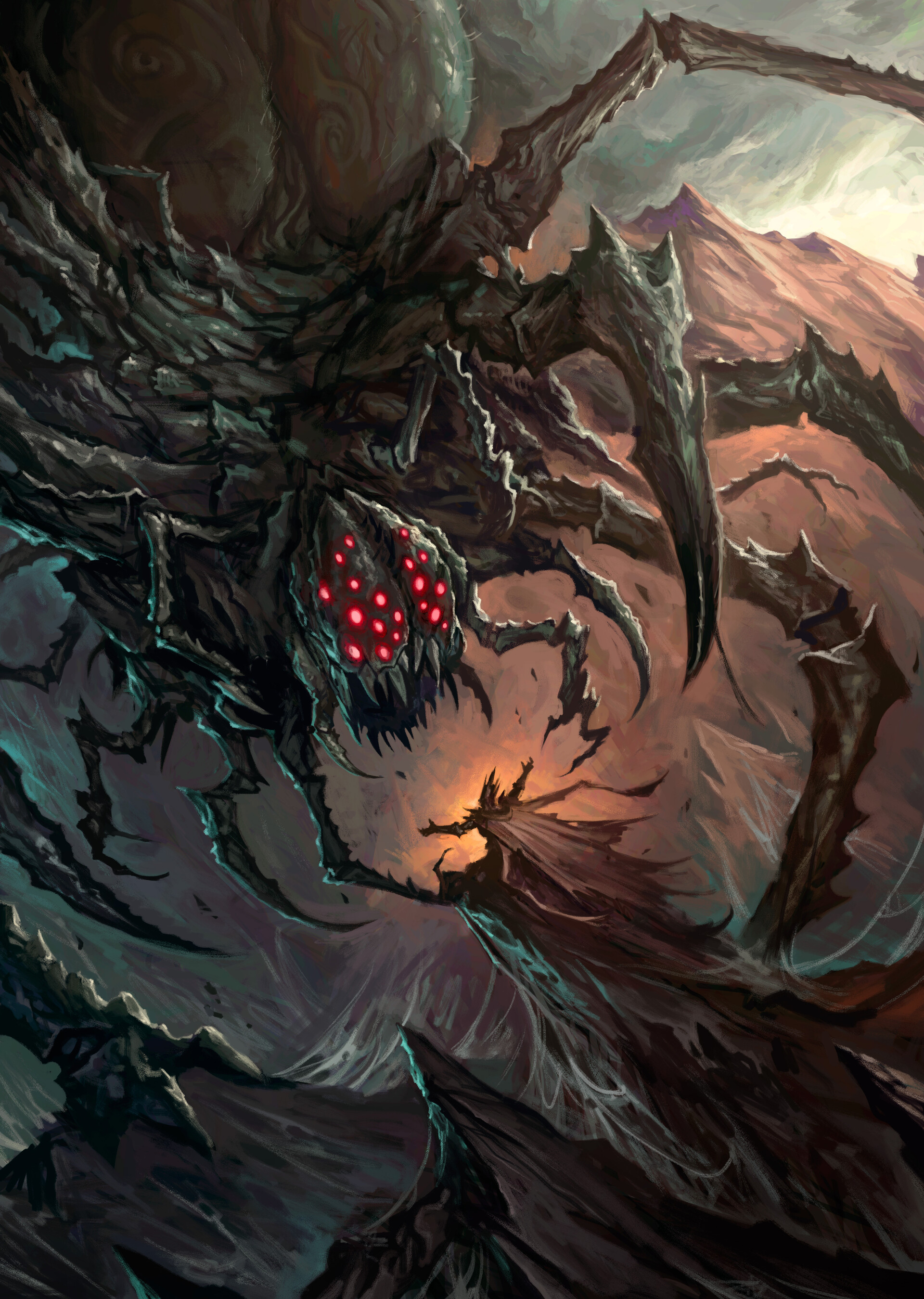 ArtStation - The Bargain with Ungoliant, Diana Franco