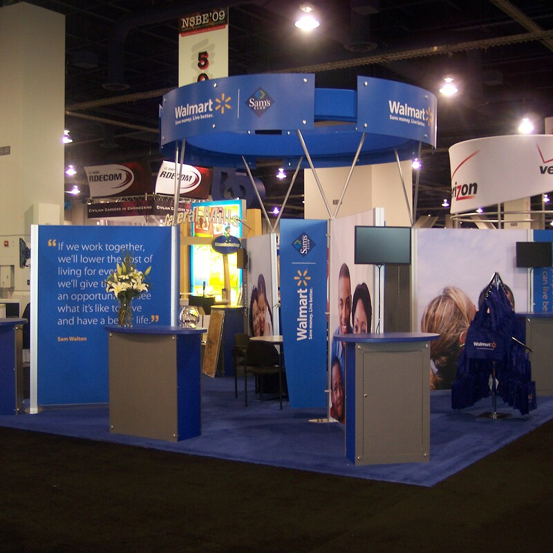 Walmart and Sam's Club Trade Show Booth