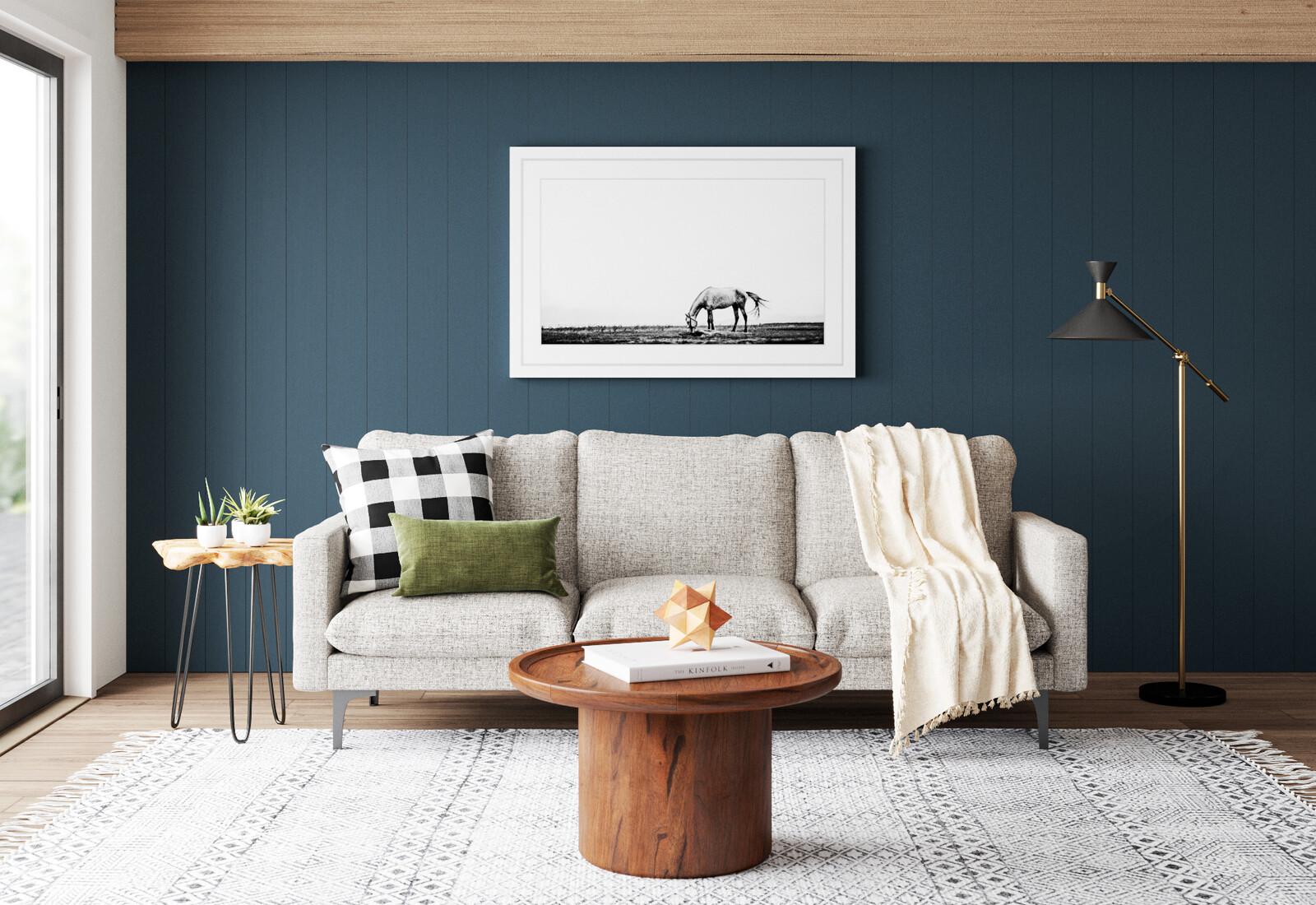 Rustic/Modern Living Room