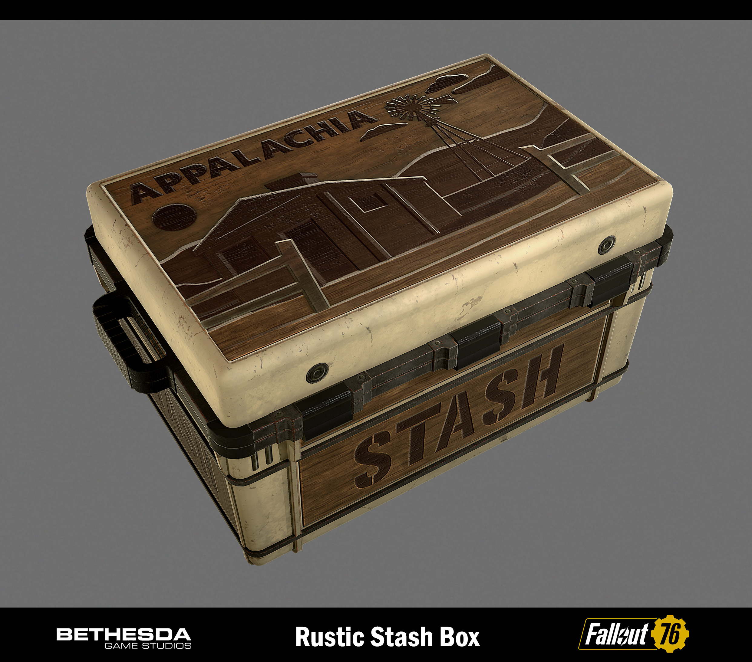 Rustic theme Stash box used to store loot, gear, and scrap