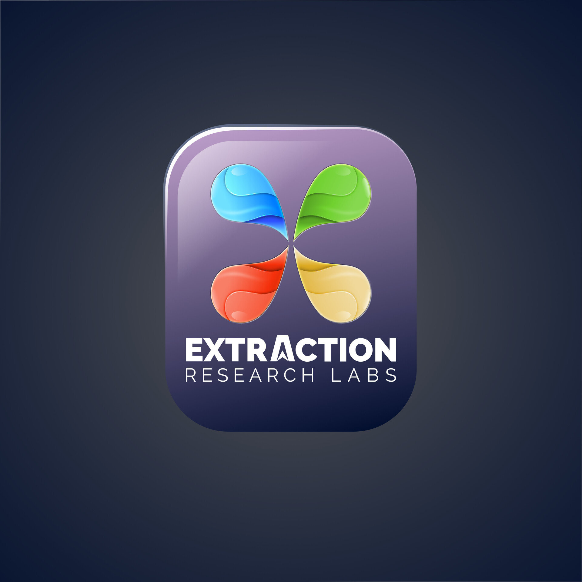 Logo for Extraction Company, copyright reserved. All Vector. Affinity Designer