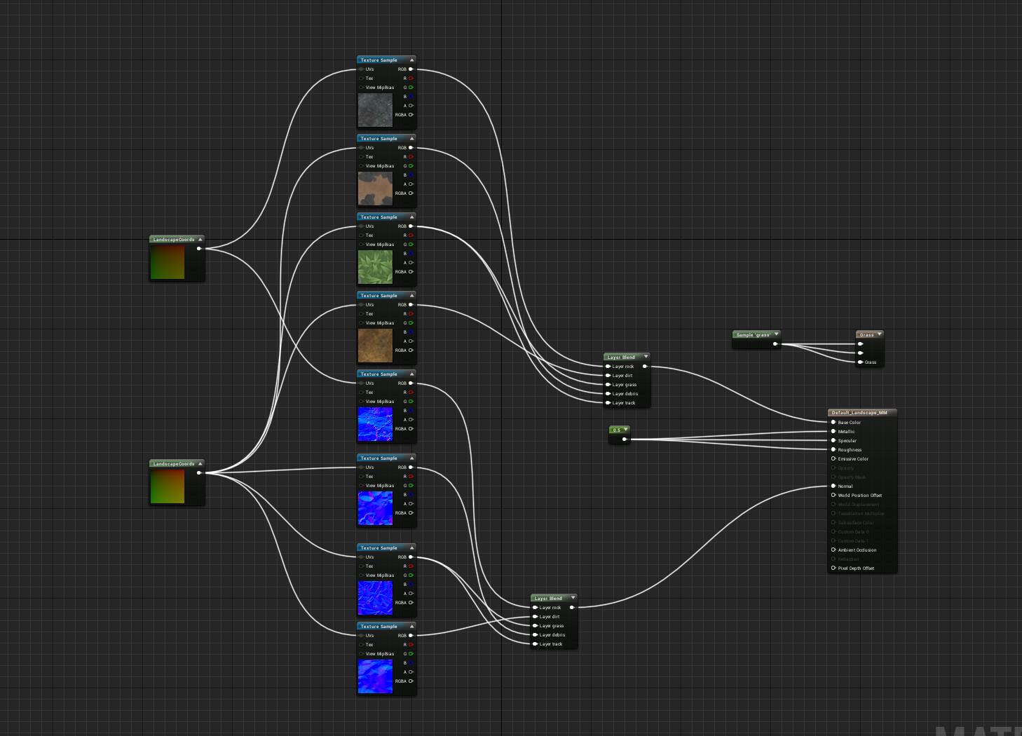 Landscape shader node in unreal engine