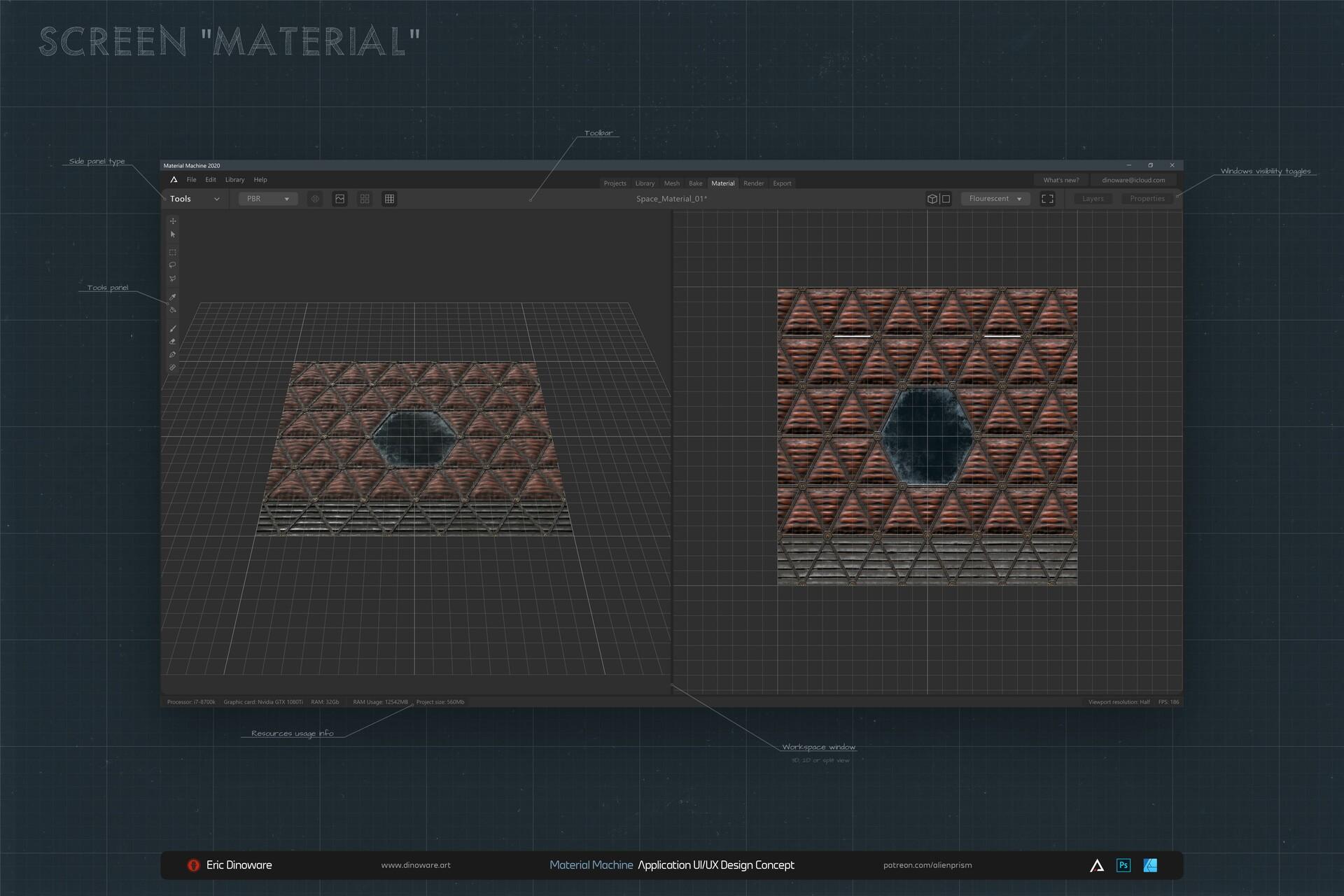 Screen: Material