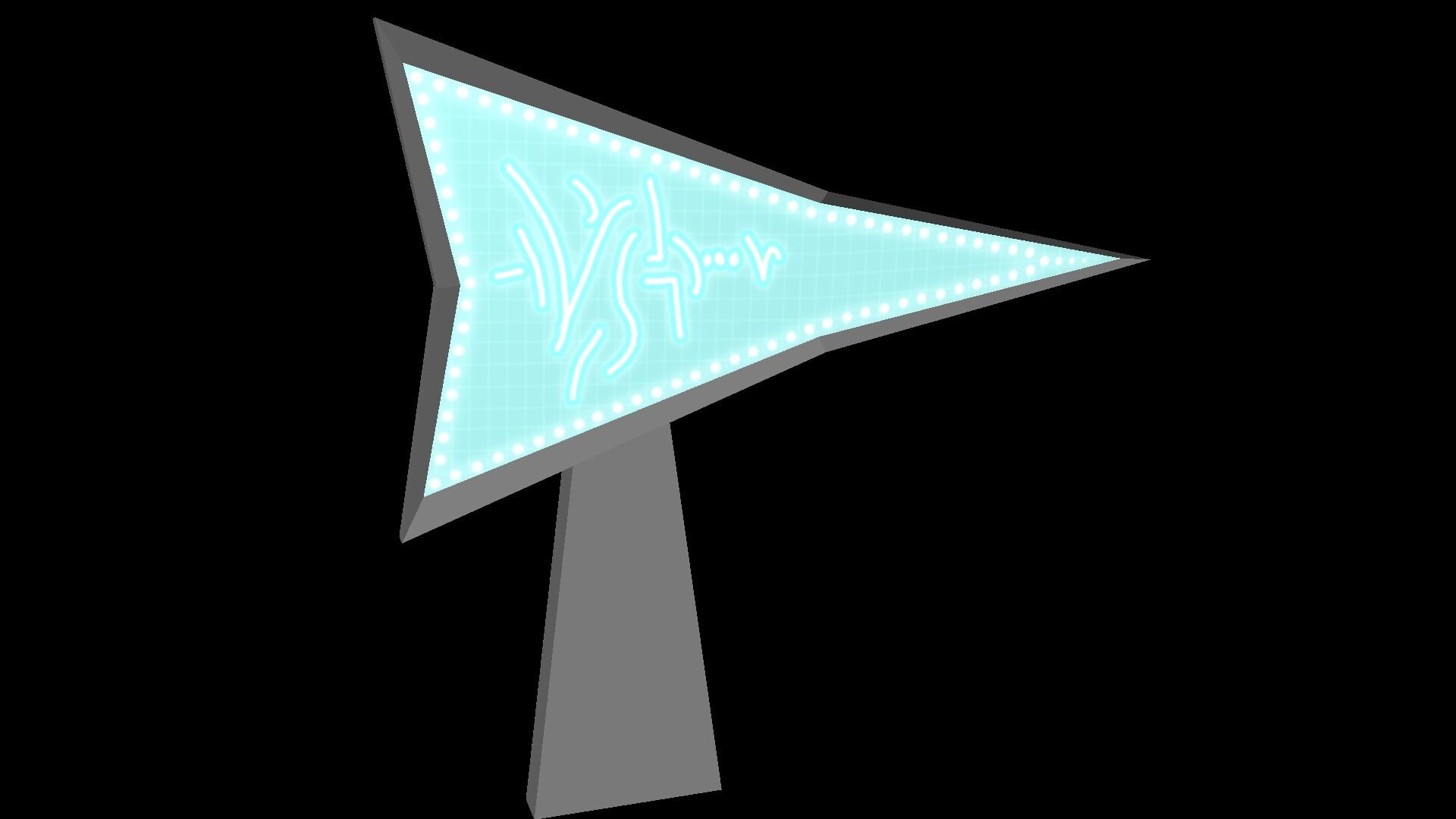 Par'N Neon Sign Post
