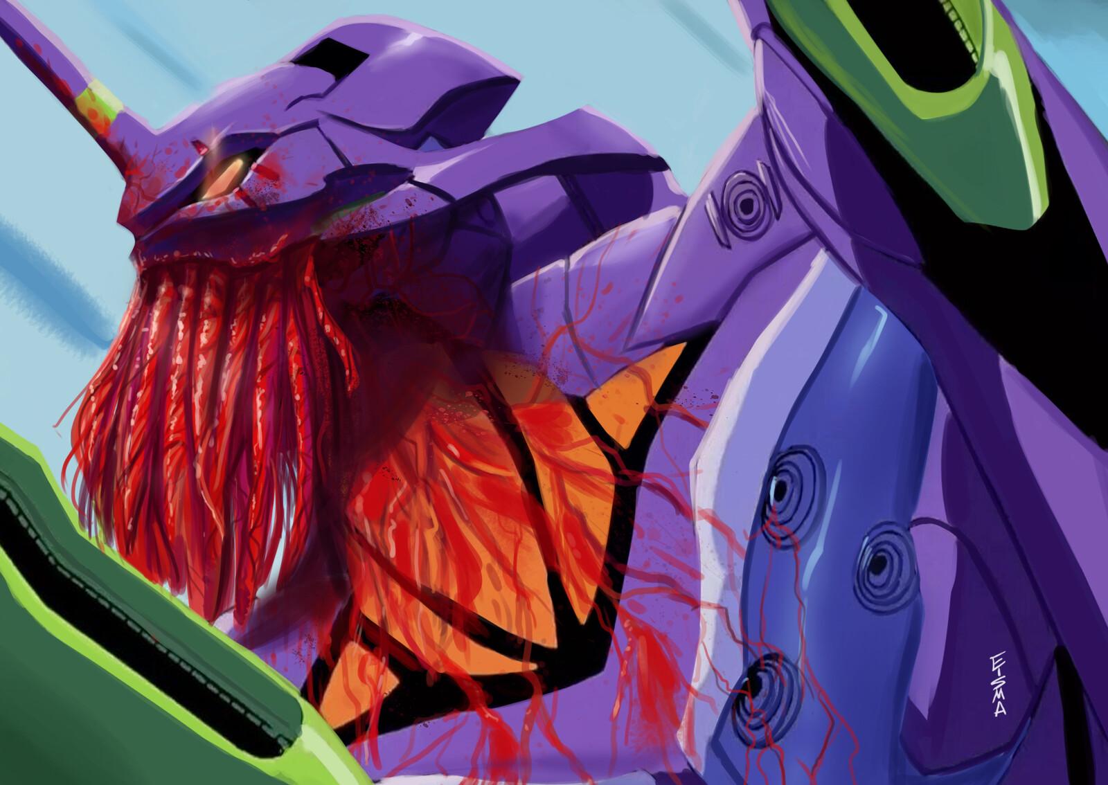 Eva Unit-01 x Cthulhu paintover