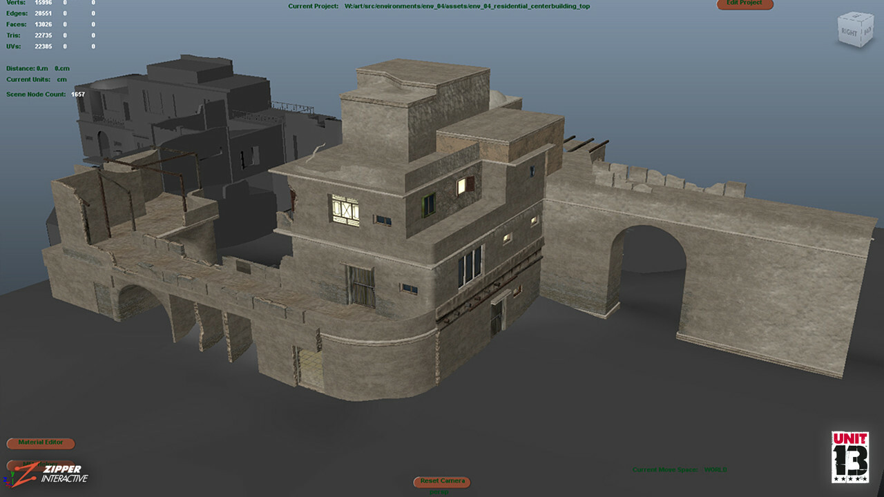 Marhaba Bazaar, default shading in Maya.
