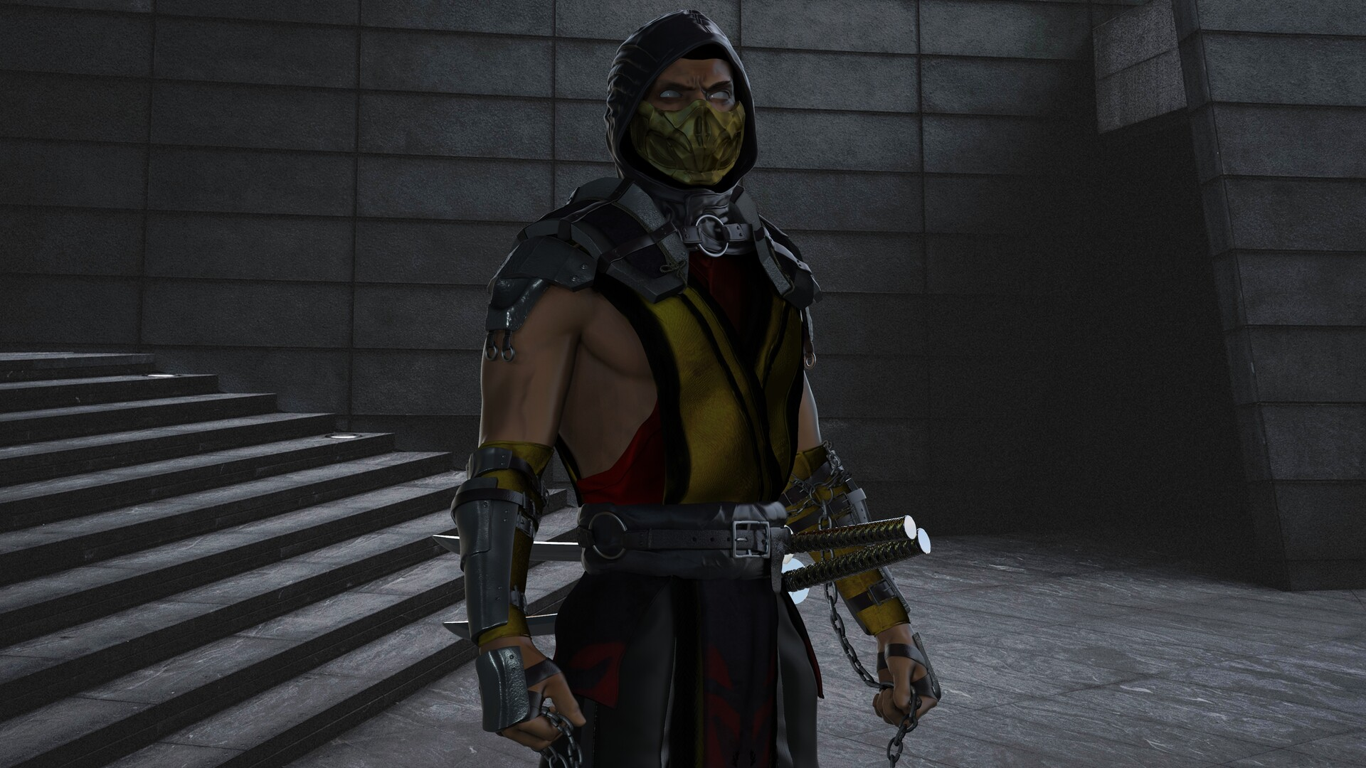 Artstation Scorpion 3d Model Mortal Kombat Mk 11 Andrew